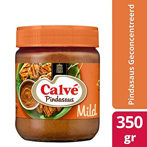 3 X Calvé Satesaus - Erdnußsoße - 350g - Fondue Dip-sauce