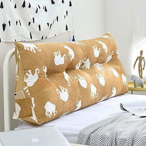 YAHAO Lesen Kopfkissen Bett-Rückenstütze Keilform Rückenlehne Rückenstützkissen Für Bett Sofa,D-200 * 20 * 50cm