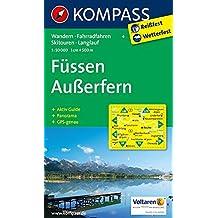 Füssen, Außerfern: Wander-, Rad-, Skitouren- und Langlaufkarte. Mit Panorama. GPS-genau. 1:50.000
