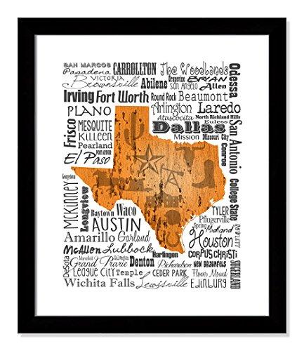 Casa Fine Arts Texas-Typpographie-Druck 20.5