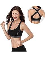 Hjuns Women's Sport Yoga Bra Running Jogging Fitness Exercise Pad Bra Top Aerobics Dance Vest