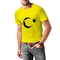 N4128 T-Shirt T??rkei T??rkiye Turkey Ankara Istanbul TR Shirt (S, Yellow T-shirt/Black Image)