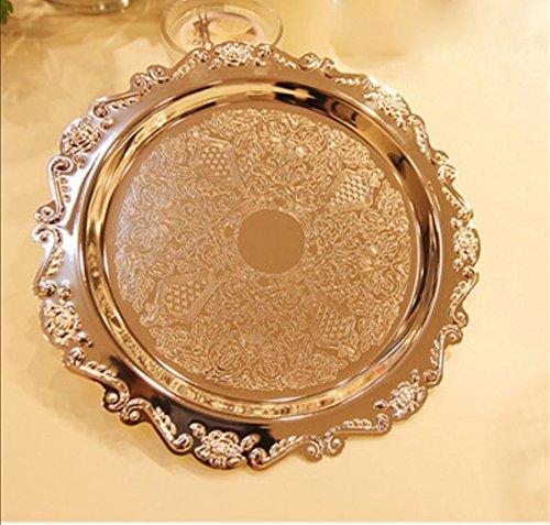 Torta in metallo plaPXato argento piatto tè snack vassoio matrimonio dessert display frutta sePXa piatto a buffet , 2
