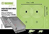 ISOTRONIC Mäuseabwehr 2er Set Ultraschall Ratten- und Mäusevertreiber mobil Nagerabwehr Tiervertreiber Mäuseschreck batteriebetrieben für Garten Haus Keller und Dachboden Mäuse vertreiben ohne Chemie (2)
