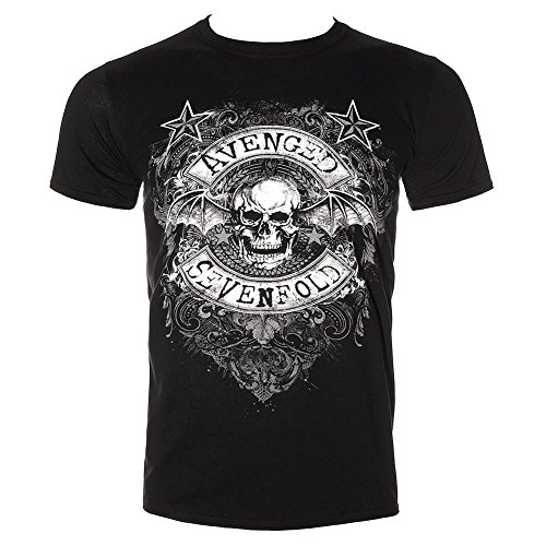 T Shirt Avenged Sevenfold Star Flourish (Black) - Small