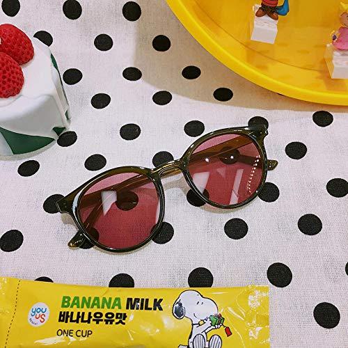 Sommer koreanische Version des Gesichts kleine Sonnenbrille Street Beat Flut rundes Gesicht Sonnenschirm Sonnenbrille weibliche dekorative Brille war dünn, hell schwarz, grün Rahmen roten Tabletten