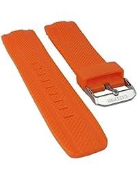 Calypso Watches Ersatzband Uhrenarmband Kunststoff Band orange mit Struktur für Modell K5704/2