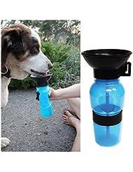 Sannysis accesorios para perros, Botella de agua deportiva, Biberón para mascotas (Azul)