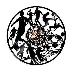 Idea Regalo - Lanlugg 1 Pezzo Giocare a Calcio Orologio da Parete Orologio da Parete Decor Orologio Calcio Orologio da Parete Moderna Decorazione della Stanza Arte Parete Regali Fatti a Mano