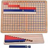 Gazechimp Jeu Educatif Addition et Division Panneau en Bois Jouets Montessori Mathématiques Ecole Maison pour Enfants