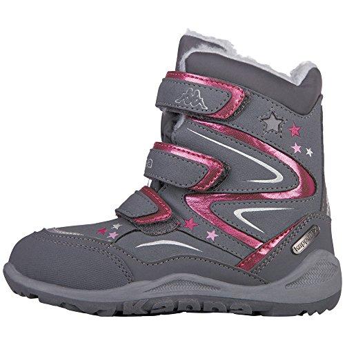 Kappa Mädchen STELLAR TEX Kids Combat Boots, Grau (1622 Grey/Pink), 29 EU
