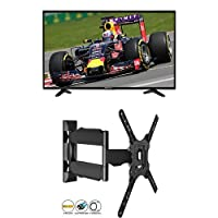 Hisense 50 inch Smart Ultra HD 4K LED TV with 2 years warranty & Invision® Ultra Slim Tilt Swivel TV Wall Bracket inc. 1.8m HDMI Cable