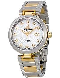 Ladymatic DeVille Gelb Damen Mutter Pearl Stahl Uhr 18kt Gold und der