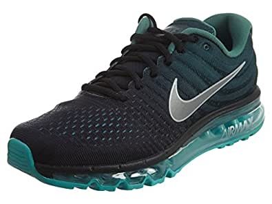 f76b523a27e ... Nike Mens Air Max 2017 Running Shoes Black White Green Stone 849559-002  Size 9