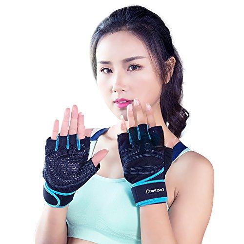 Butterme Premium Gewichte Heben Handschuhe Radfahren Fahrrad Fahrrad Motorrad Shockproof Outdoor Sport Half Finger Handschuhe mit verstellbaren Handgelenk Unterstützung für Fitnessstudio Workouts Fitness