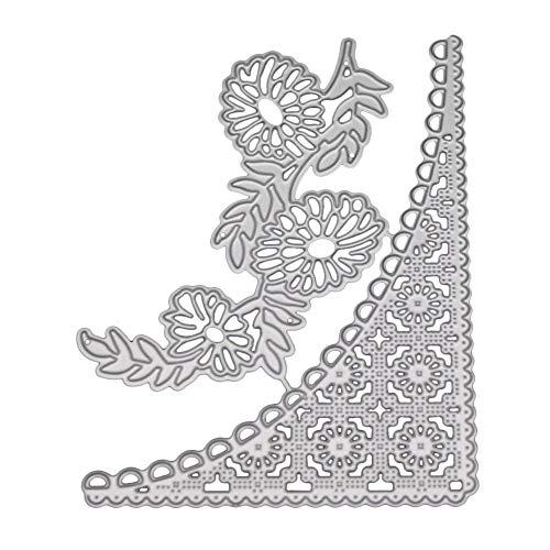 Beginfu Kreative Neue Schneeflocke Metall Stanzformen Schablonen DIY Album Silber Farbe DIY Handwerk Blume Herz Prägen Stanzschablone Embossing Machine Stanzformen Prägemaschine Paper Card Craft