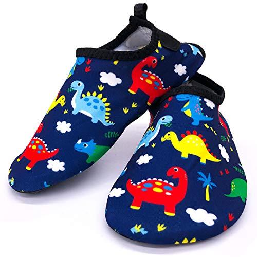 Scarpe da Acqua per Ragazzi Ragazze Bambini Scarpe da Spiaggia Scarpe da Mare per Sportive Water Shoes Asciugatura Rapida, Antiscivolo, Comode (Dinosauro)