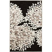Vallila 68 x 110 cm 100 por ciento de chenilla Sydanpuu alfombra acrílico diseño de corazones, Black_Parent