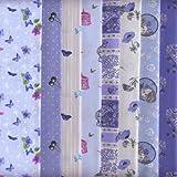 Stoffpaket (Papillon) Blau | 8 Stoffe | 100% Baumwolle | 46