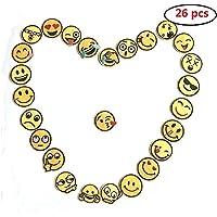26 Parches decorativos remiendo Emoji bricolaje tops adhesivos de parches termoendurecibles Aplicaciones Puño de hierro en