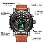 RISTOS Mens Multifunction Military Digital Watches 30M Waterproof Big Face EL Light Alarm Clock Stopwatch Outdoor Sports Casual Analog Wristwatch