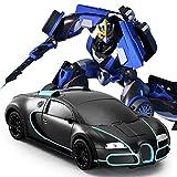 Kikioo 1: 16 Dual Mode 4WD Grand Vitesse Dasher Stunt Sports Robot De Voiture À La Dérive, Télécommande Électronique Véhicules RC Avec Un Bouton Tranforming Et Son Moteur Réaliste Pour Garçon Enfants