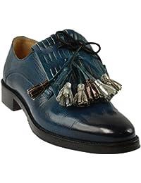 Melvin & Hamilton , Chaussures de ville à lacets pour femme bleu bleu