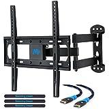 Mounting Dream MD2377–02 TV Soporte de pared para la mayoría de 26–55 pulgadas LED, LCD, y Plasma OLED Soporte de TV con brazo articulado giratorio de movimiento completo de pantalla de hasta VESA 400 x 400 mm y 30 kg, con inclinación