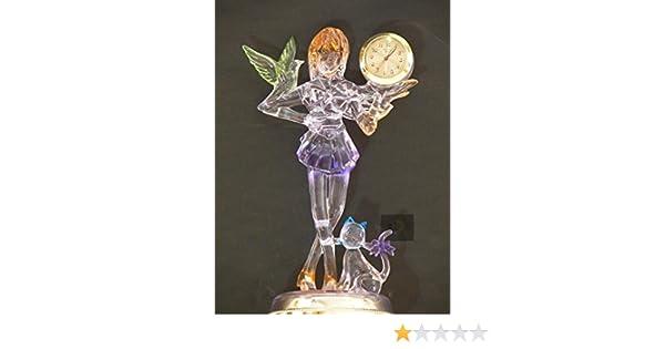 Room Decor Kids Girls Gift Desk Table Mantel Shelf Fairy Angel,cat Clock New