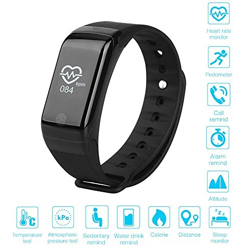Jiyanshi Micromax Bolt D320 Compatible Compatible Heart Rate Monitor Smart Wristband with OLED Display Smart Bracelet Heart Rate Monitor Smartband Sport Pedometer Wristband Watch Fitness Tracker  available at amazon for Rs.999