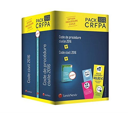 pack-crfpa-civil-code-civil-2016-code-de-procdure-civile-2016-prime-oral-crfpa