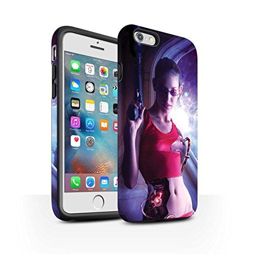Officiel Elena Dudina Coque / Matte Robuste Antichoc Etui pour Apple iPhone 6S+/Plus / Pack 9pcs Design / Super Héroïne Collection Cyborg