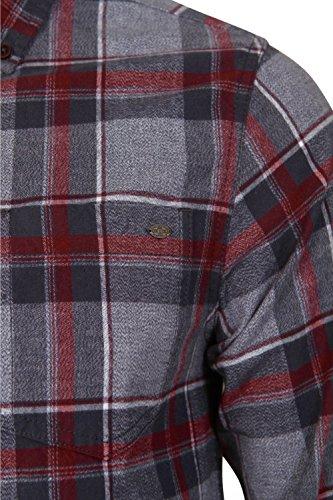 Tokyo Laundry - Chemise casual - Avec boutons - À Carreaux - Col Chemise Classique - Homme sang de bœuf