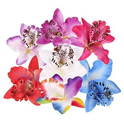 20 Orquídeas artificiales de 8 cm de Dendrobium para decoración de la casa, bodas decoración