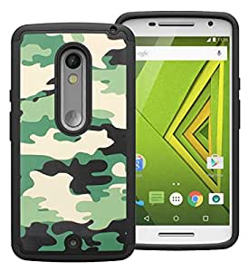 Cool Mango Moto X Play Back Cover – Tactical Camouflage Heavy Armor Cover for Moto X Play – Camo Green