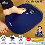 #10: Dr Trust ABS Absolute Blue Personal Digital Scale Weighing Machine for Body Weight with Digital Thermometer and Measuring Tape
