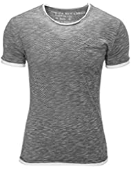 Key Largo Herren T-Shirt Kurzarm Vintage O-Neck Slim Fit
