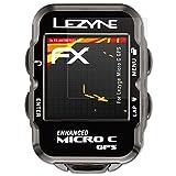 atFoliX Folie für Lezyne Micro C GPS Displayschutzfolie - 3 x FX-Antireflex-HD hochauflösende entspiegelnde Schutzfolie