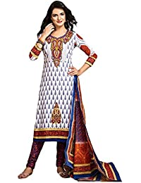 Baalar Women's Cotton Dress Material (D.NO.1311_Free Size_white)