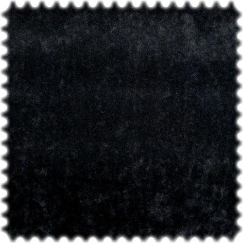 polstereibedarf-online AKTION Original Microfibres® Flockvelours Möbelstoff LONGLIFE Soft Schwarz