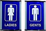 #8: Super Max Printografix Toilet Signages 2 pc sets size 4x6 inches