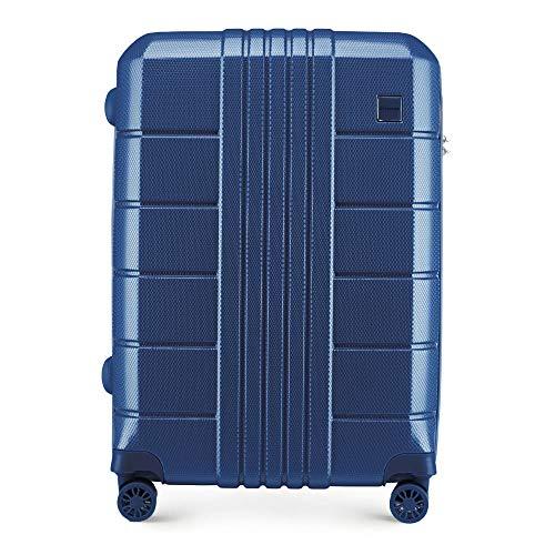 Stabiler Hartschalen - Koffer-Trolley Mittelgroßer Koffer Leichtgewicht | Blau | 63x25x44cm | 55L | 3,1kg 56-3P-822-90