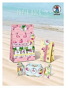 Ursus 30800099F Paper portatil Flamingo, Aprox. 45x 30,4cm, 157g/m², 24Hojas Surtidos en Motivos 12