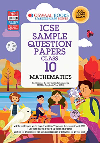 Oswaal ICSE Sample Question Papers Class 10 Mathematics Book (For March 2020 Exam)
