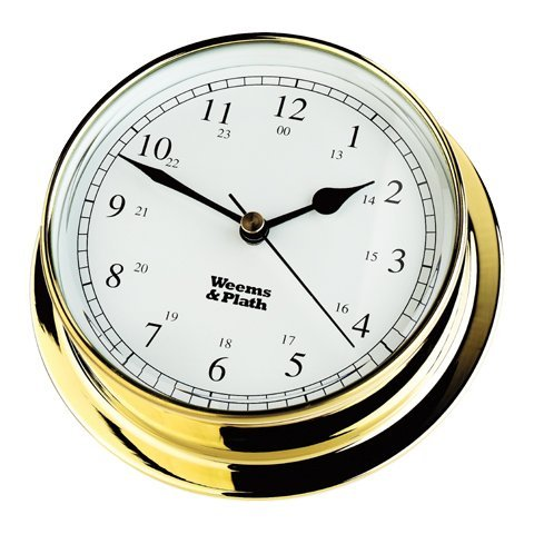 Weems & Plath Endurance Collection 125 Quartz Clock (Brass) by Weems & Plath