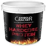 Whey Hardcore Protein, Eiweißpulver Konzentrat, 700g Schoko oder Vanille Geschmack, 100% rein, Aminosäuren, Molke, Bcaa, Glutamin Shake (Schoko)