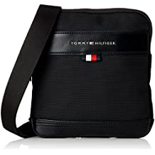 Tommy Hilfiger - Tailored Mini Crossover, Shoppers y bolsos de hombro Hombre, Negro (