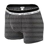 Dolce&Gabbana Herren Boxer Shorts long, Stretch Baumwolle S-XL - versch. Farben: Farbe: Schwarz (Striped) | Größe: 5 (Medium)