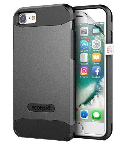 "iPhone 7 Case (Scorpio R5) Premium Protection Cover w/ Screen Guard - iPhone 7 4.7"" (Metallic Gray) Metallic Gray"