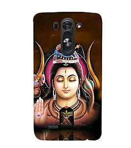 Fuson Designer Back Case Cover for LG G3 S :: LG G3 S Duos :: LG G3 Beat Dual :: LG D722K :: LG G3 Vigor :: LG D722 D725 D728 D724 (Shiva Shivaya Vishnu Linga Jagadguru )